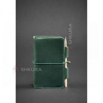 Кожаный блокнот (Софт-бук) 3.0 зеленый