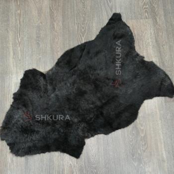 Овечья шкура стриженая, черная, не формат