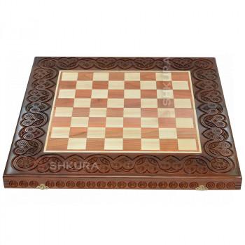 Шахматная доска, 55х55 см. Темная