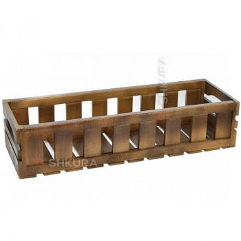 Деревянный ящик для вазонов. Орех