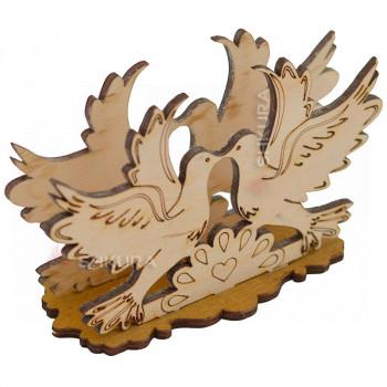 Деревянная салфетница 10. Голуби
