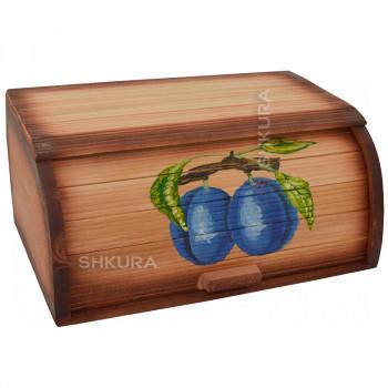 """Хлебница деревянная """"Слива"""""""