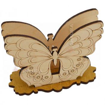 Деревянная салфетница 22. Бабочка