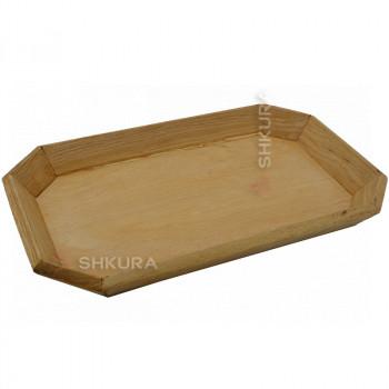 Деревянная тарелка 22