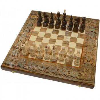 Шахматы + Нарды, 50х50 см. Медь+Бисер