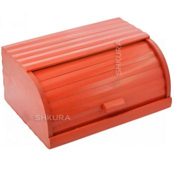 Хлебница деревянная Д02. Красная
