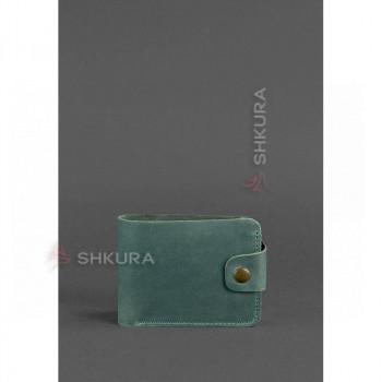 Кожаное портмоне 4.3 зеленое