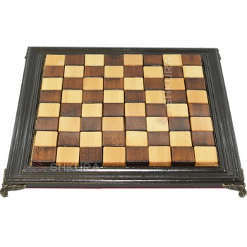 Шахматная доска, 40х40 см. Дерево, темная