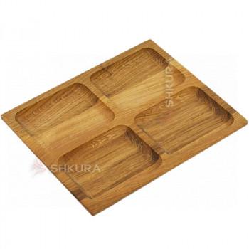 Доска для подачи блюд, 4 секции. Д08
