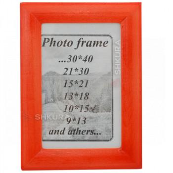 Фоторамка из дерева, 10х15. Красная