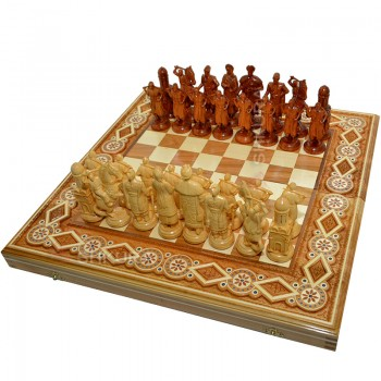 """Шахматы """"Казаки"""". 50х50 см. Бисер"""