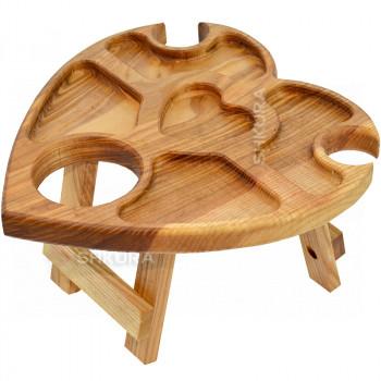 """Винный столик """"Сердце"""". Дуб"""