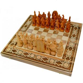 """Шахматы """"Игра престолов"""" 60х60 см. Бисер"""