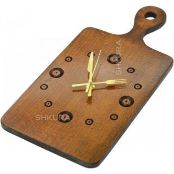 Часы кухонные 01, темные