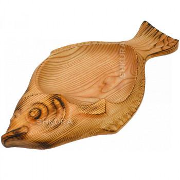Доска для подачи рыбы. Камбала