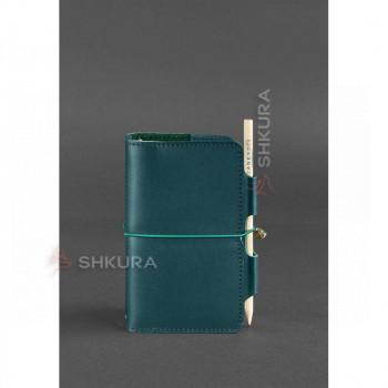 Женский кожаный блокнот (Софт-бук) 3.0 зеленый