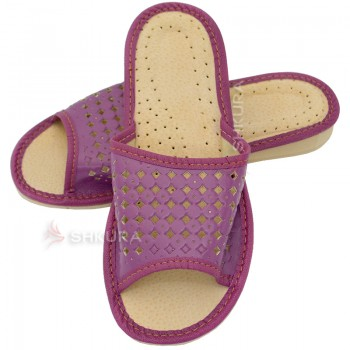 Тапочки женские летние, ШВН01. Фиолетовые