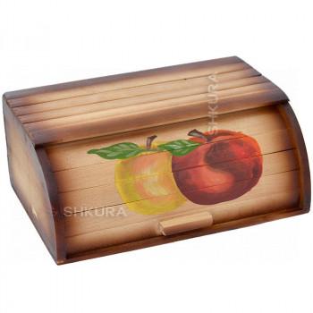"""Хлебница деревянная """"2 яблока"""""""