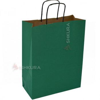 Пакет для подарков 25х11х32 см. Зеленый
