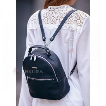Кожаный женский Мини-рюкзак Kylie Синий