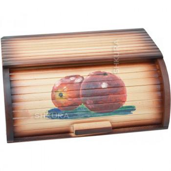 """Хлебница деревянная """"Красные яблока"""""""