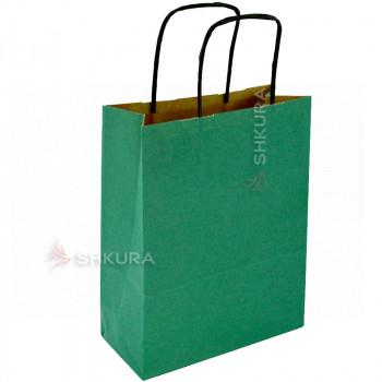 Пакет для подарков 18х9х23 см. Зеленый