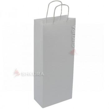 Пакет для подарков 16х9х39 см. Белый