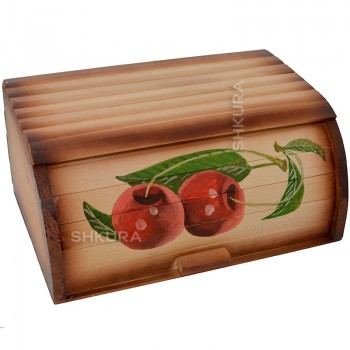 "Хлебница деревянная ""2 вишни"""