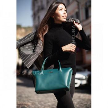 Женская кожаная сумка Midi зеленая