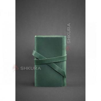 Кожаный блокнот (Софт-бук) 1.0 зеленый