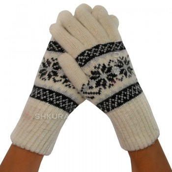Женские перчатки из ангорской шерсти 01