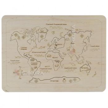 """Деревянный пазл """"Карта мира"""""""