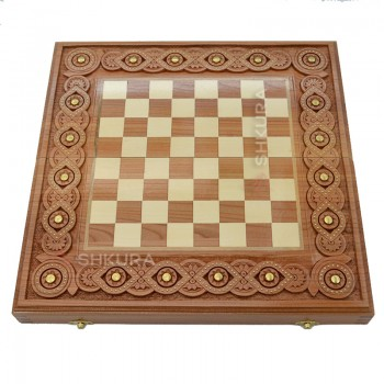 Шахматная доска. 40х40 см. Медь