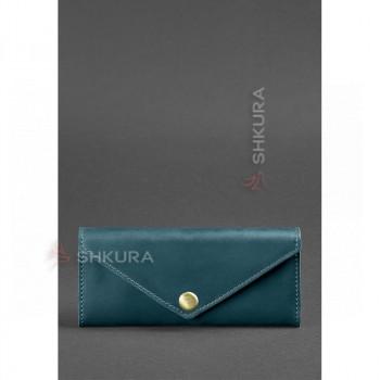 Женский кожаный кошелек Керри 1.0 зеленый