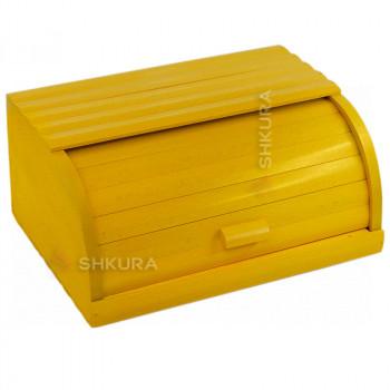 Хлебница деревянная Д02. Желтая