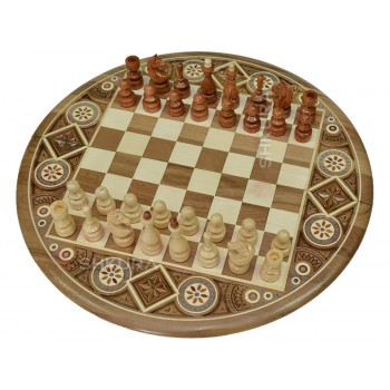 Круглые Шахматы, 40x40 см