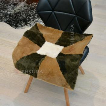 Накидка на стул из овчины 13