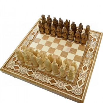 """Шахматы """" Рыцари"""". 50х50 см. Бисер"""