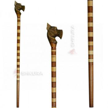 Трость деревянная. Собака 04