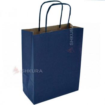 Пакет для подарков 18х9х23 см. Синий