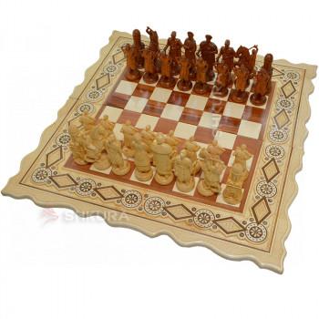 """Шахматы """"Казаки"""", 56х56 см. Бисер"""