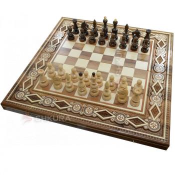 Шахматы + Нарды, 60х60 см. Бисер