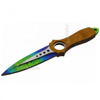"""Деревянный нож """"Скелетный"""", цветной"""