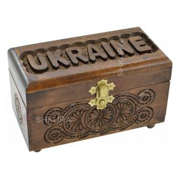 """Шкатулка резная """"Ukraine"""" 02"""