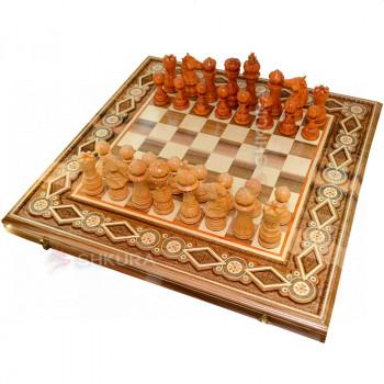 """Шахматы """"Гамбит"""" 50х50 см. Бисер"""