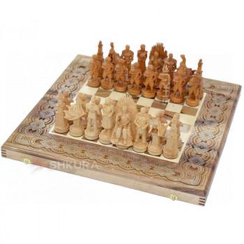 "Шахматы ""Игра престолов"" 50х50 см. Бисер+Медь."