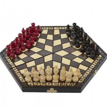Шахматы на троих, 35х40 см