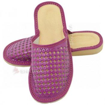 Тапочки женские летние, ШВБ1. Фиолетовые