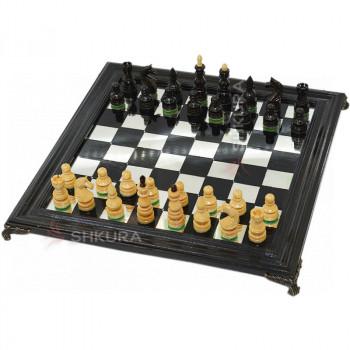 Шахматы 40х40 см. Стекло, дерево