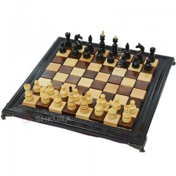 Шахматы 40х40 см. Дерево, темные